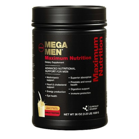 GNC Mega Men Maximum Nutrition Shake - Vanilla Bean - 36 oz.