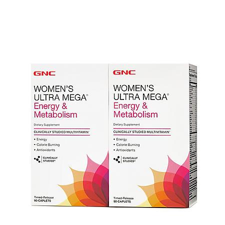 GNC Women's Ultra Mega Energy & Metabolism Multivitamin (180 ct.)