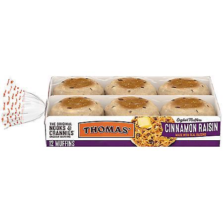 Thomas' Cinnamon Raisin English Muffins (12 ct.)