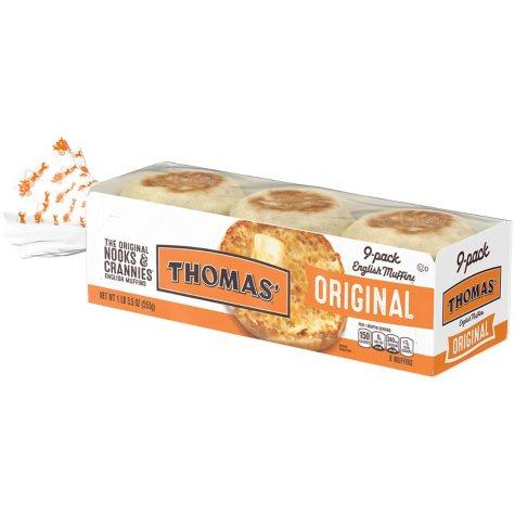 Thomas' Original English Muffins (18 oz. each, 9 pk.)