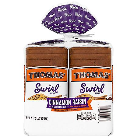 Thomas' Swirl Cinnamon Raisin Bread (16oz / 2pk)