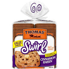 Thomas'  Cinnamon Raisin Swirl Toasting Bread (2 Pk.)
