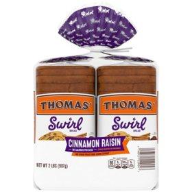Thomas' Swirl Cinnamon Raisin Bread (2 pk., 32 oz.)