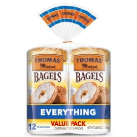 Thomas' Everything Soft and Chewy Bagels (18oz / 2pk)
