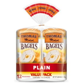 Thomas' Plain Soft and Chewy Bagels (12 ct.)