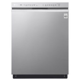 LG - Front-Control Dishwasher with QuadWash and EasyRack Plus - LDF5545ST Stainless Steel