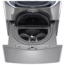 LG 1.0 cu. ft. SideKick Pedestal Washer, LG TWIN Wash Compatible - WD100CV Graphite Steel