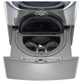 LG - 1.0 cu. ft. SideKick Pedestal Washer, LG TWIN Wash Compatible - WD100CV Graphite Steel
