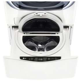 LG 1.0 cu. ft. SideKick Pedestal Washer, LG TWIN Wash Compatible - WD100CW White