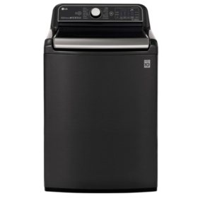 LG 5.5 cu. ft. Top Load Washer with TurboWash3D in Black Stainless Steel