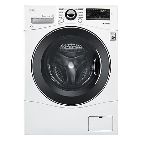 "LG - WM1388HW - 2.3 Cu Ft Capacity 24"" Compact Front Load Washer w/ NFC Tag On - White"
