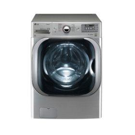 LG - 5.2 cu. ft. Mega-Capacity TurboWash Washer with Steam Technology - WM8100HVA Graphite Steel