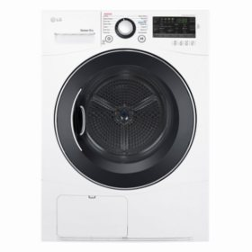 "LG - DLEC888W - 4.2 Cu Ft Capacity 24"" Wide Compact Electric Ventless Condensing Dryer - White"