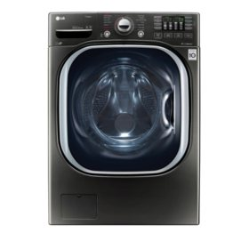 LG - 4.5 cu. ft. Ultra-Large Capacity TurboWash Washer with NFC Tag-On Technology WM4370HKA - Black Stainless Steel