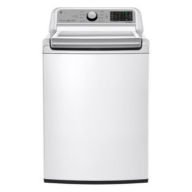 LG - 5.0 cu. ft . Mega Capacity Top-Load Washer, WT7200CW White