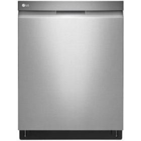 LG - LDP6797ST - Top Control Smart Wi-Fi Enabled Dishwasher with QuadWash - Stainless Steel