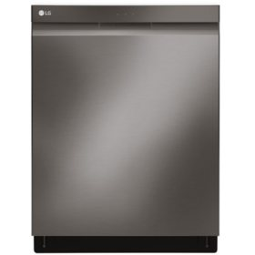 LG - LDP6797BD - Top Control Smart Wi-Fi Enabled Dishwasher with QuadWash - Black Stainless Steel
