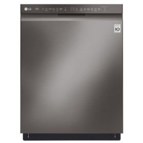 LG Front Control Dishwasher with QuadWash and EasyRack Plus - LDF5545BD, Black Stainless Steel