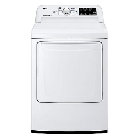 LG - DL7100W - 7.3 Cu Ft Dryer with Sensor Dry Technology - White - (CHOOSE: Fuel Type)