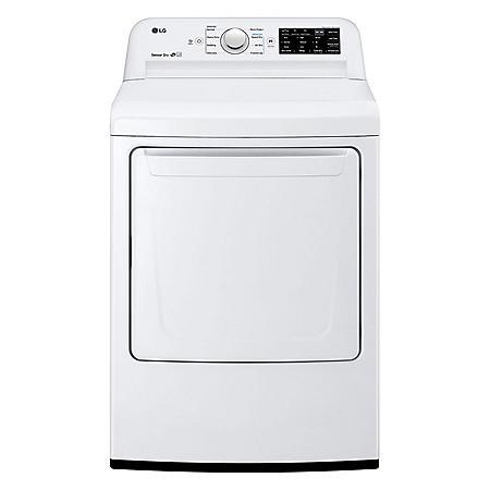 LG - DL7100W - 7.3 Cu Ft Dryer with Sensor Dry Technology