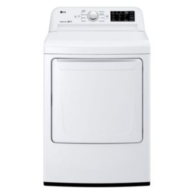 LG - DLE7100W - 7.3 Cu Ft Electric Dryer with Sensor Dry Technology - White