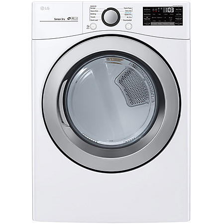 LG - DLG3501W - 7.4 cu ft Ultra Large Capacity Smart Wi-Fi Enabled GAS Dryer - White