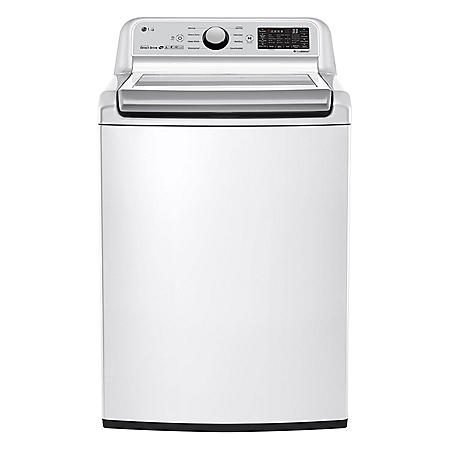 LG - WT7300CW - 5 0 Cu Ft Capacity Top Load Smart Wi-Fi