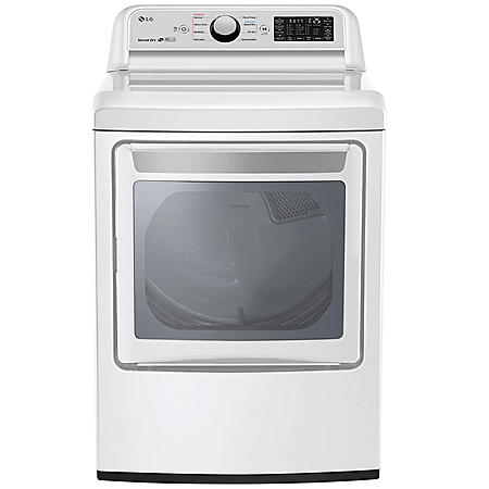 LG - DLE7300WE - 7.3 Cu Ft Capacity Smart Wi-Fi Enabled Electric Dryer - White