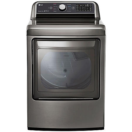 LG - DLE7300VE - 7.3 Cu Ft Capacity Smart Wi-Fi Enabled Electric Dryer - Graphite
