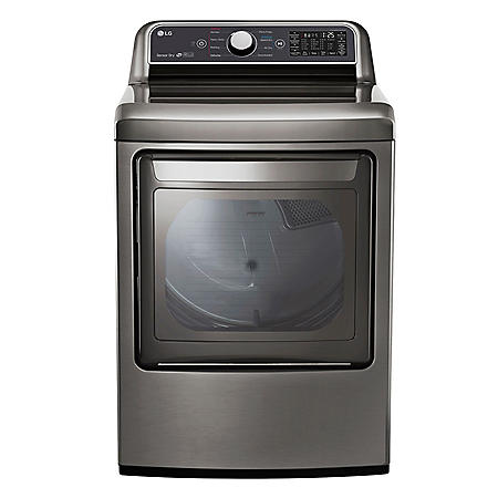 LG - DLG7300WE - 7.3 Cu Ft Capacity Smart Wi-Fi Enabled Gas Dryer - White