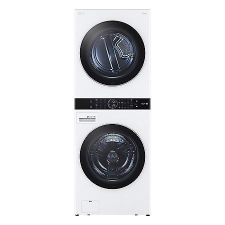 LG Single Unit Front Load LG WashTower - White