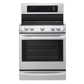 LG - 6.3 cu. ft. Electric Single-Oven Range with ProBake Convection and EasyClean LRE4213ST Stainless Steel