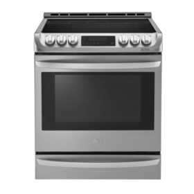 LG - LSE4613 - 6.3 Cu Ft Electric Single Oven Slide-in Range with ProBake Convection and EasyClean - (Choose Finish)