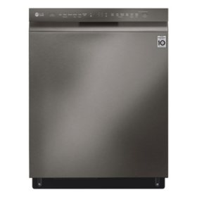 LG - LDF5678BD - Front Control Wi-Fi Enabled Dishwasher with QuadWash - Black Stainless Steel