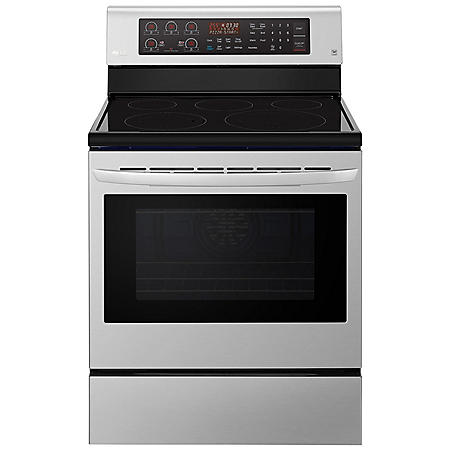 LG Single Oven Electric Range with True Convection and Easy Clean