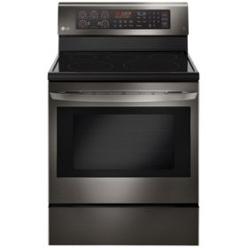 LG LRE3193BD - 6.3 cu ft Electric Single Oven Range w/ True Convection and Easy Clean - Black Stainless Steel