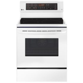 LG LRE3193SW - 6.3 cu ft Electric Single Oven Range w/ True Convection and Easy Clean - White