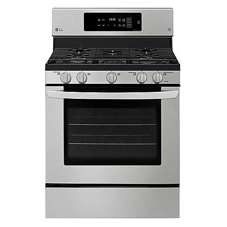 LG Single Oven Gas Range with True Convection and Easy Clean