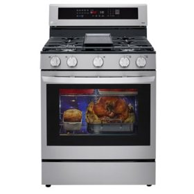 LG True Convection InstaView Gas Range