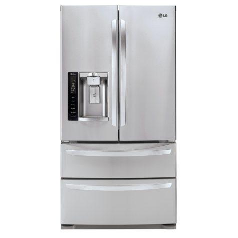 LG 27 cu. ft. Ultra-Capacity 4-Door French Door Refrigerator, LMXS27626S Stainless Steel