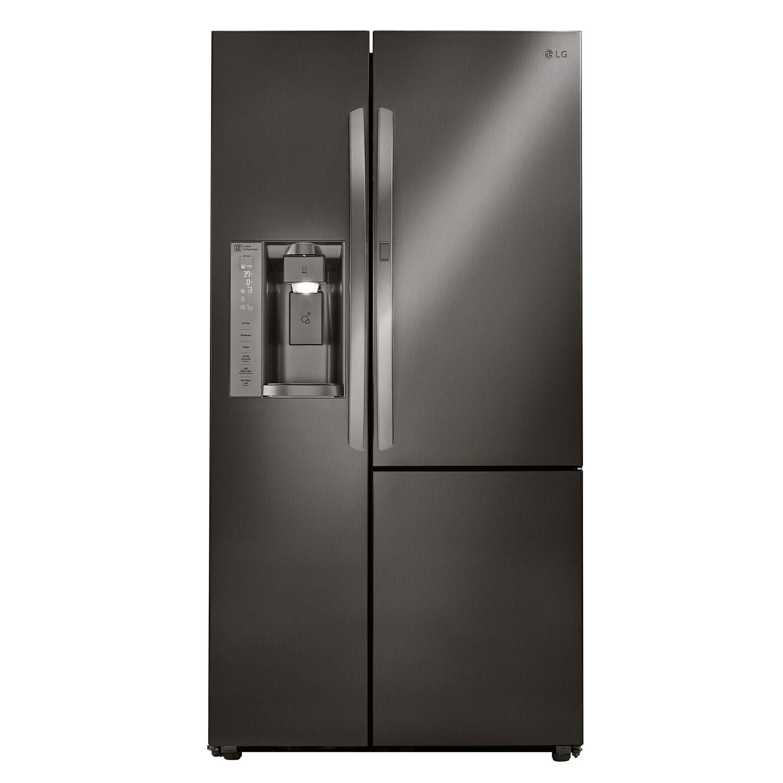LG LSXS26366D 26 cu. ft. Side-by-Side Refrigerator with Door-in-Door in Black Stainless Steel