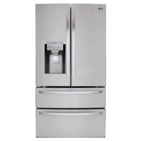 LG - LMXS28626S - 28 cu ft Ultra Large Capacity 4-Door French Door Refrigerator, Stainless Steel