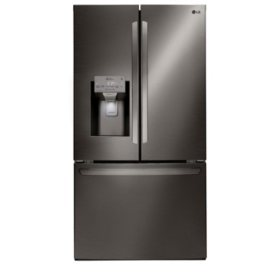LG - LFXS28968D - 28 cu ft Ultra Large Capacity 3-Door French Door Refrigerator, Black Stainless Steel