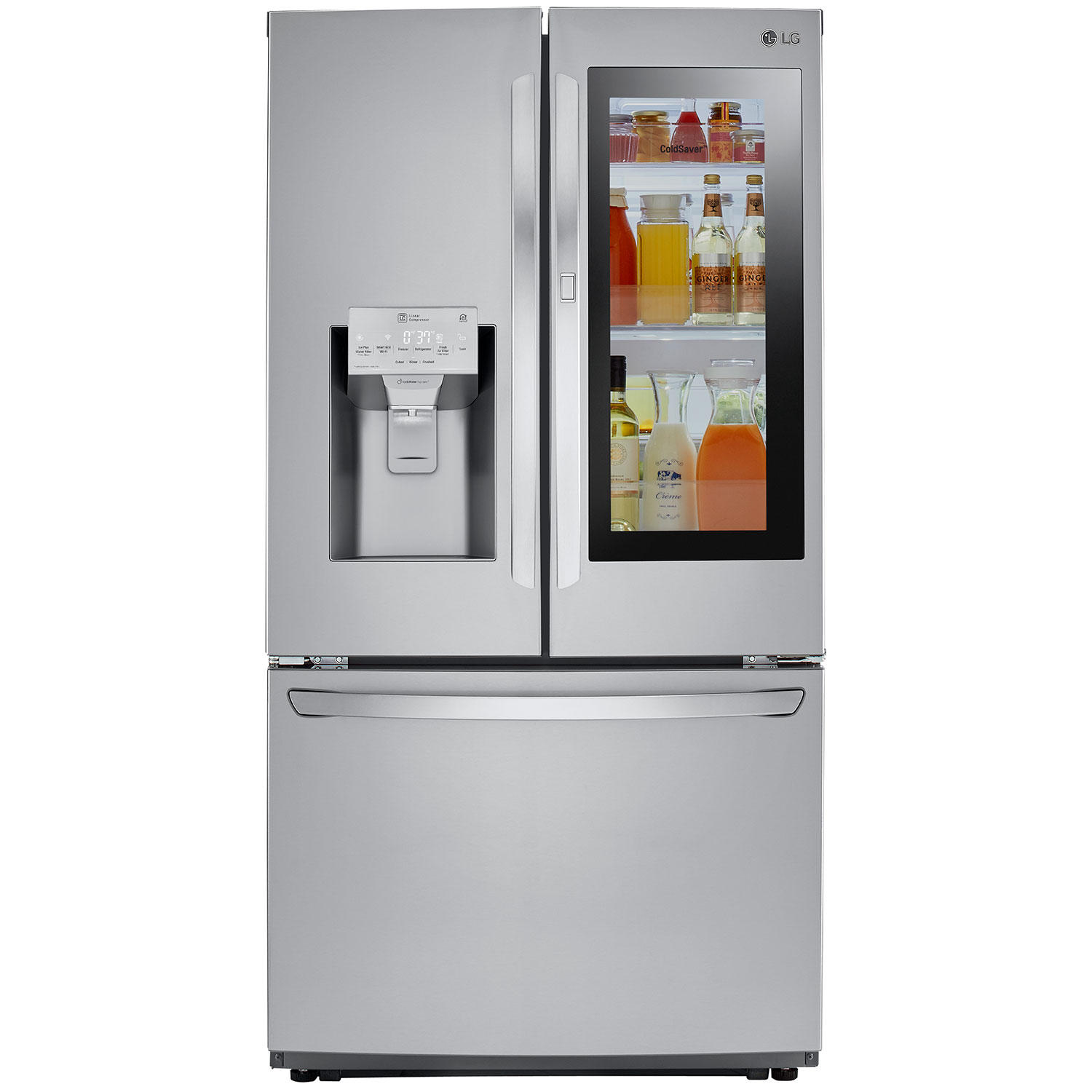 LG 26 Cu Ft French Door Refrigerator With InstaView Door-In-Door