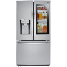 LG - LFXS26596S - 26 cu ft Smart Wi-Fi Enabled InstaView Door-In-Door Refrigerator - Stainless Steel