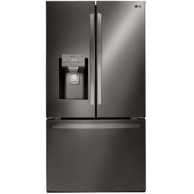 LG - LFXS26973D - 26 cu ft Capacity Smart Wi-Fi Enabled French Door Refrigerator - Black Stainless Steel