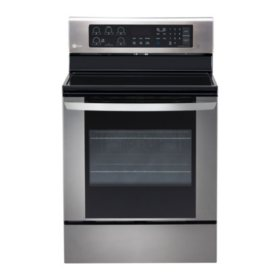 LG - 6.3 cu. ft. Single-Oven Electric Range with EasyClean - LRE3061ST Stainless Steel