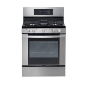 LG - 5.4 cu. ft. Single-Oven Gas Range with EasyClean - LRG3061ST Stainless Steel