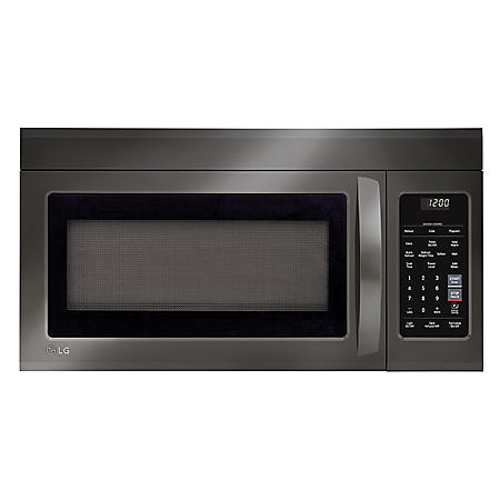 LG - LMV1831BD - 1.8 Cu Ft Over-the-Range Microwave Oven with EasyClean - Black Stainless Steel