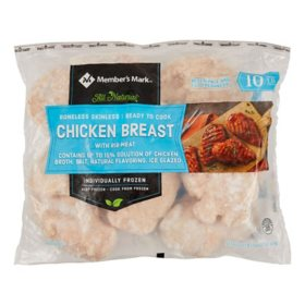 Member's Mark Boneless Skinless Chicken Breasts, Frozen (10 lbs.)